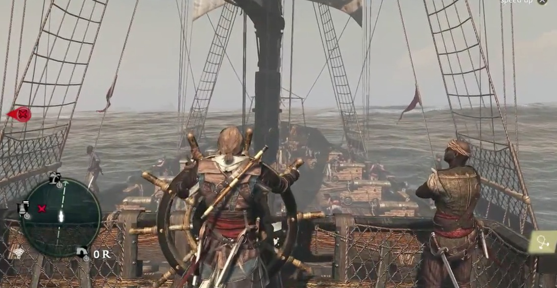 Assassin's Creed 4 Black Flag possui missões interessantes à bordo de navios. (Foto: Internet)